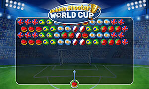 Play Bubble Shooter World Cup In Full Screen